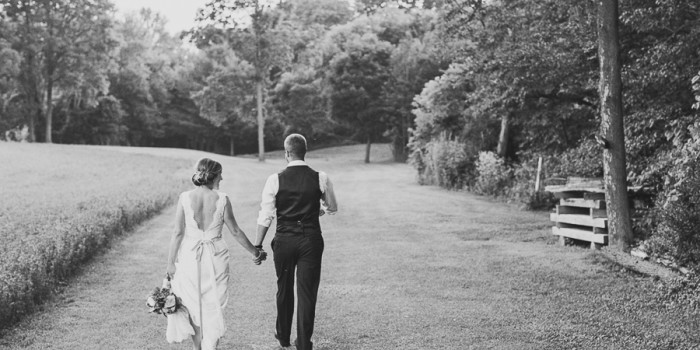 kyle & erika, intimate river wedding