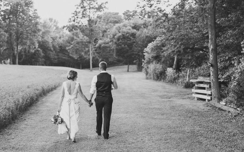 kyle & erika, intimate river wedding