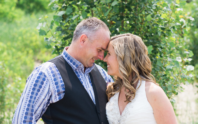 val & jeff, intimate backyard wedding