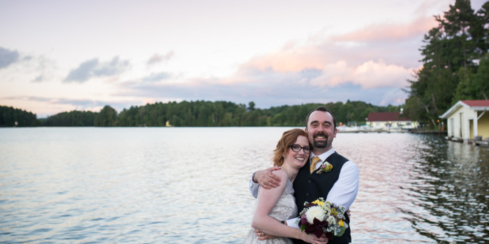 kristin & rob, muskoka wedding