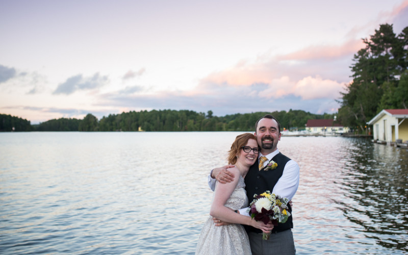 kristin & rob, muskoka wedding