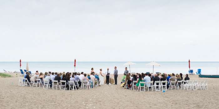 vince & michelle, bayfield beach wedding