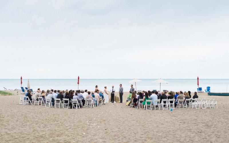 vince & michelle, bayfield beach wedding