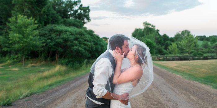 mandy & brad, st. george barn wedding