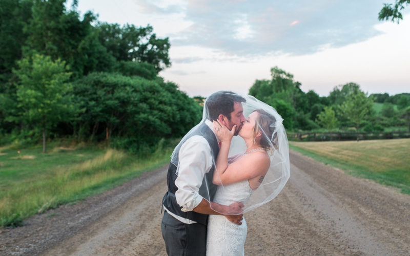 mandy & brad, st. george barn wedding