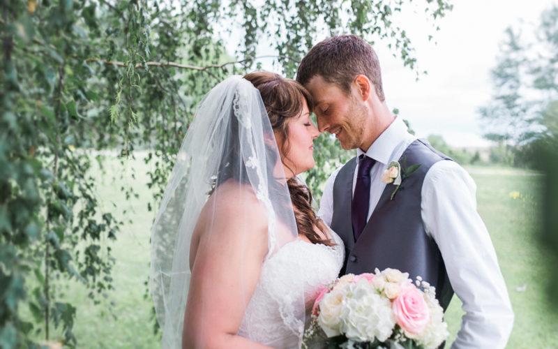 ben & natasha, intimate backyard wedding