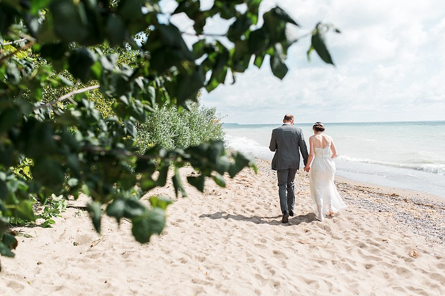 Beach Wedding at Camp Kintail, Ontario