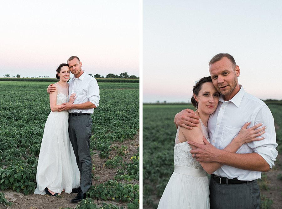 Sunset Wedding Portraits at Camp Kintail, Ontario