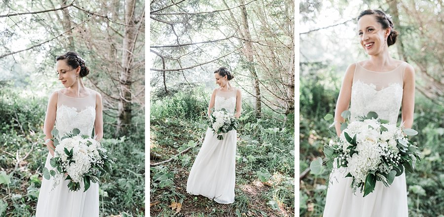 Woodsy Bride Portraits at Camp Kintail, Ontario