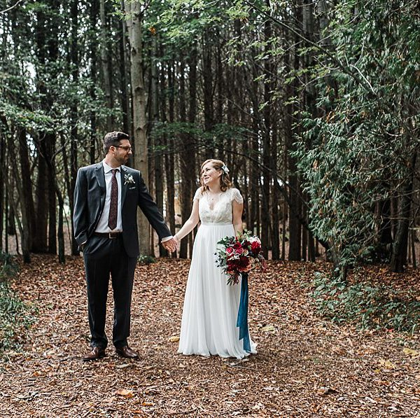 leslie & devan, camp kintail wedding