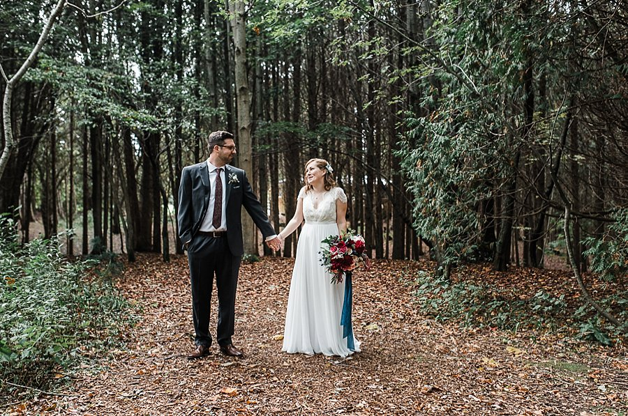 leslie & devan, camp kintail wedding