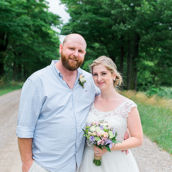 emily & matt, huron county barn wedding