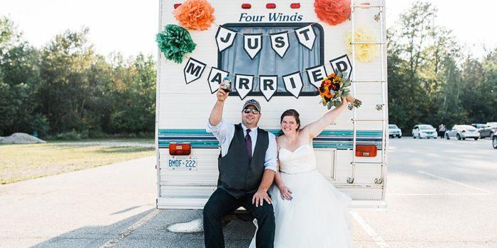 joe & ashley, goderich backyard wedding
