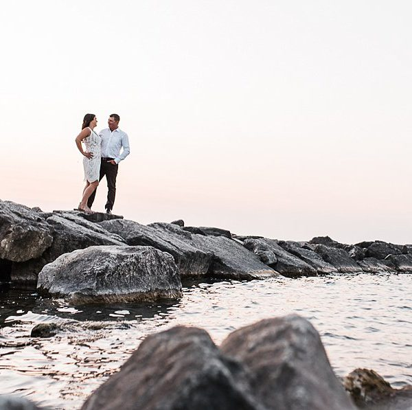 jacob & bridget, goderich beach engagement session