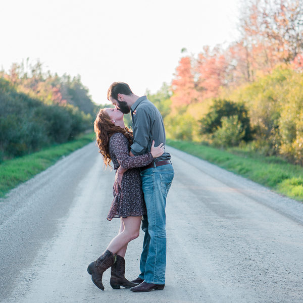 jenny & nick, rural engagement session